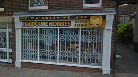 Hardcore Hobbies in Bury St Edmunds is closing down Picture: GOOGLE MAPS