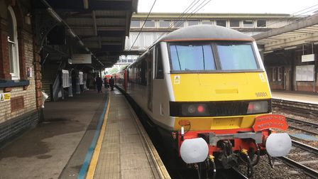 The first Ipswich in 60 train on its return trip from London. Picture: PAUL GEATER