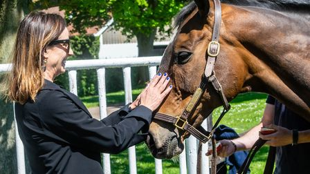 Bananarama's Keren Woodward meets Lord Windermere at The National Stud Picture: DISCOVER NEWMARKET