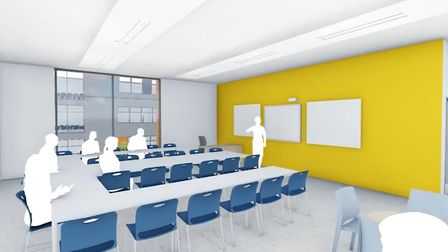 A CGI inside the new building Picture: ABBEYGATE SFC