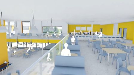 A CGI inside the new sixth form college in Bury St Edmunds Picture: ABBEYGATE SFC