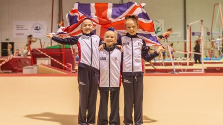 Pipers Vale gymnasts Ellie Cornforth, Aaliyah Manning and Grace Wardley enjoyed success at the Briti