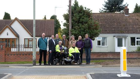 A crossing in Kesgrave was one of the schemes funded through locality highways budgets which Mary Ev