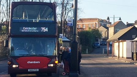 A Chambers bus at Sudbury bus station Picture: ARCHANT