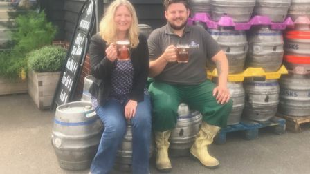 Penny Wilby and Ian Carson of Nethergate Brewery who have brewed a special beer for The Willow Found