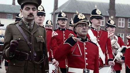 Actors Rowan Atkinson and Tony Robinson were at Colchester Barracks for the recording of the opening