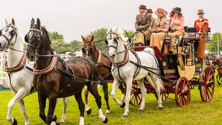 Coach driving is a traditional sight at the Suffolk Show. Picture: TOM SOPER
