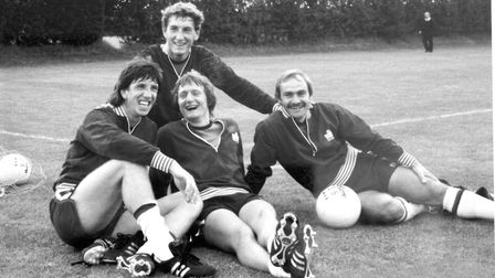 Town legends: Terry Butcher, Paul Mariner, Eric Gates and Mick Mills.