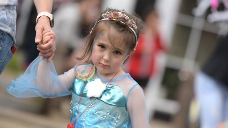 Children got dressed up for their special moment in the parade Picture: SARAH LUCY BROWN