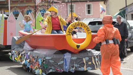 The sun came out for the annual Framlingham Gala bringing a carnival atmosphere to town Picture: S