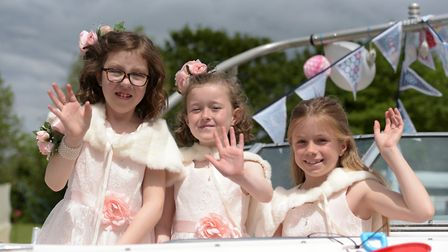 Gala princesses Millie Barker, Lexi Bullingham and Grace Carr Picture: SARAH LUCY BROWN
