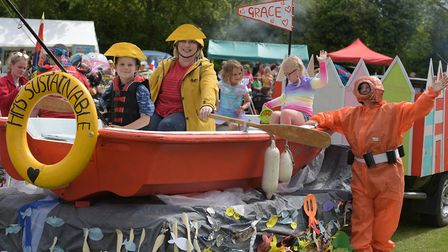 People got very creative with their floats Picture: SARAH LUCY BROWN