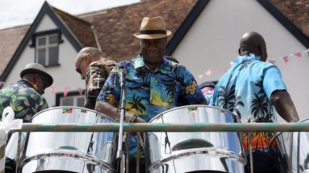 A steel band provided the soundtrack for the day Picture: SARAH LUCY BROWN