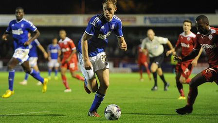 Matt Clarke made just one senior start for Ipswich Town - in a League Cup defeat at Crawley. Photo: