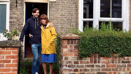 Clare Zerny and partner Ben Sinclair at their Bury home Picture: CLARE ZERNY