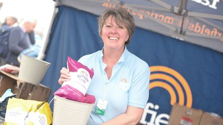 Angela Scrase from Fairfields Farm Crisps Picture: SARAH LUCY BROWN