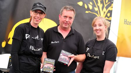 Nicola Farrow, Tony Tuite and Helen Slack from Powters Picture: SARAH LUCY BROWN
