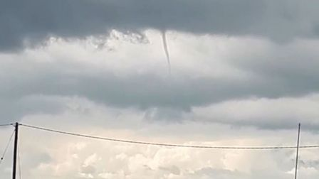 A waterspout was captured in Brightlingsea, Essex. Picture: NAOMI RUTH HORNE