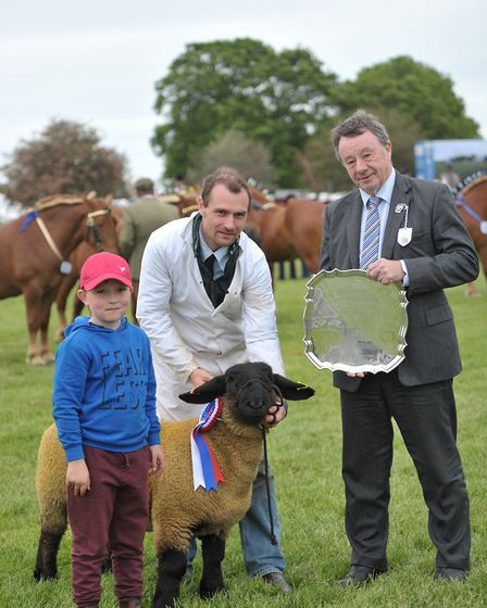 Freddy and and Andrew Pinny receiving their prize Picture: SARAH LUCY BROWN