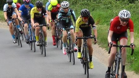 Amy Johnson (West Suffolk Wheelers) leads a string at North Lopham. Picture: FERGUS MUIR