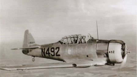 A Harvard training plane in which Fred learned to fly Picture: SUBMITTED