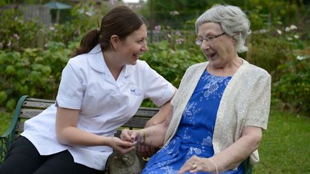 An Availl carer with a client Picture: AVAILL