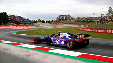 Former Ipswich School pupil Alex Albon in Formula One action Picture: DAN ISTITENE/GETTY IMAGES/ RED