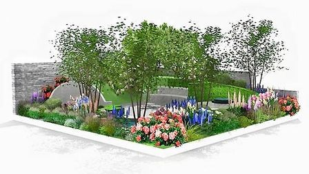 St Elizabeth Hospice's new show garden designed by Frederic Whyte will be on display at the Suffolk