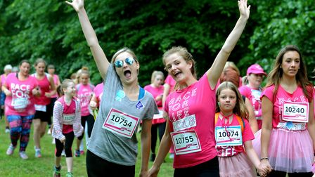 The annual Race For Life 5k and 10K run through Nowton Park, Bury St Edmunds, last year Picture: AND