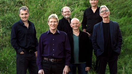 Paul Jones, front, with the modern day Manfreds who will be playing The Apex in Bury St Edmunds. Pho