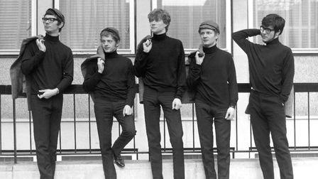 Paul Jones, centre, looking cool with Manfred Mann in their 1960s heyday. Manfred is far right. Phot
