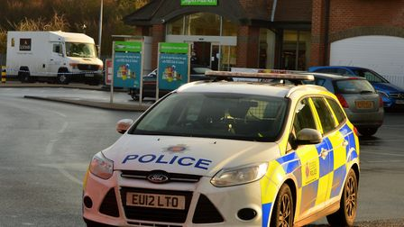 The scene of the armed robbery at Asda in Witham in December 2016 Pictures: Chris Myers