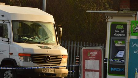 The scene of the raid at Asda in Witham in December 2016 Pictures: Chris Myers