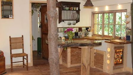 Magical treehouse in the heart of Waveney Valley. Picture: AIRBNB
