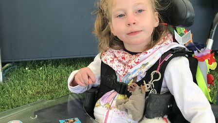 Teigan Bayliss, seven, was kissed on the lips as a baby by someone with cold sores. She now has cere