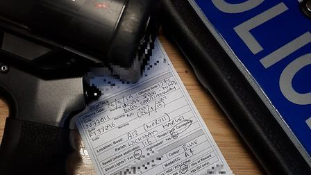 The Audi driver was clocked at 116mph when they passed officers near Wickham Market on the A12 Pictu