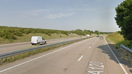 A motorist has been seriously injured following a collision on the A120 in Essex Picture: GOOGLEMAPS