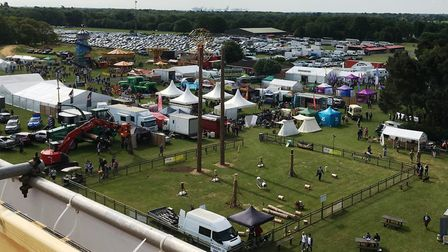 The showground from the 60-foot tower. Picture: PAUL GEATER