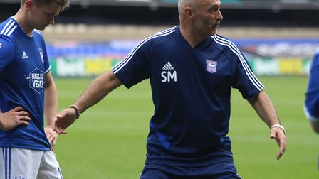 Former Ipswich Town midfielder Simon Milton was the media team manager at Portman Road yesterday. Pi