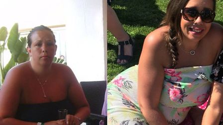Clare Fraser before (left) and after joining the Slimming World group Picture: CLARE FRASER