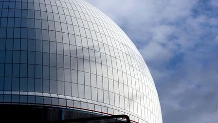 The reactor dome of Sizewell B Nuclear Power Station - the plant is being switched off for seven wee