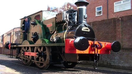 The restored Sirapite engine at Leiston Long Shop Picture: JOHN HEALD