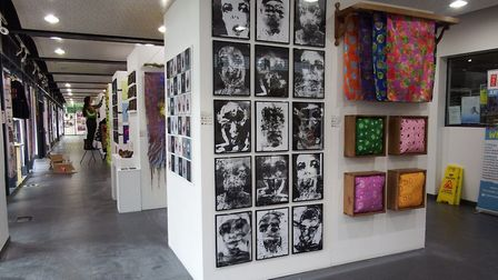 Art and design students at West Suffolk College had the chance to showcase their talents Picture: WE