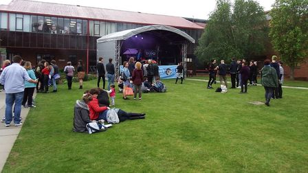The event also enjoyed live performances from music students Picture: WEST SUFFOLK COLLEGE