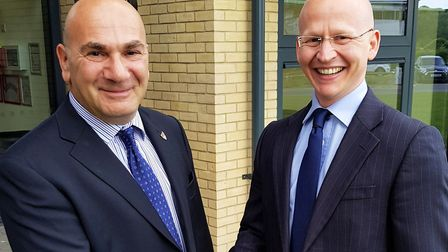 East Suffolk Council leader Steve Gallant with his deputy Craig Rivett. Picture; EAST SUFFOLK COUNCI