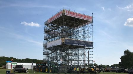 Suffolk Show's first ever viewing tower, offering views from 60ft above the ground Picture: TIM MOS