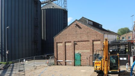 Ground works for a 27m high building to house a new multi stage evaporator at Muntons to boost its m