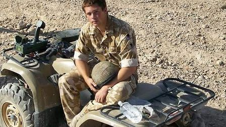 Ash Hall, from Colchester, pictured serving in Afghanistan in 2010. Picture: COURTESY OF ASH HALL