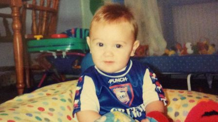 An Ipswich Town fan from a very young age... Jack Lankester