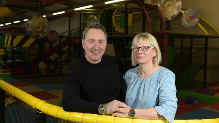 Layden-Grant and Frances Seymour will be re-opening the soft play centre next month Picture: SARAH L